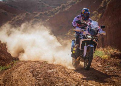Joan Barreda riding 16YM Africa Twin
